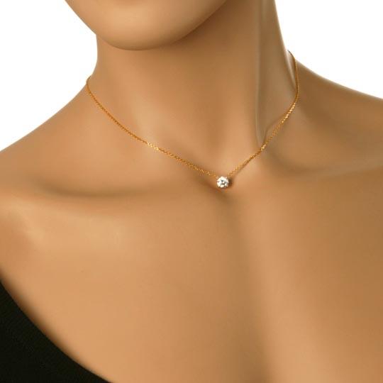 Monture Serti Jaune Or Collier 4 Prix Diamant 18k Griffes OPkZTXui