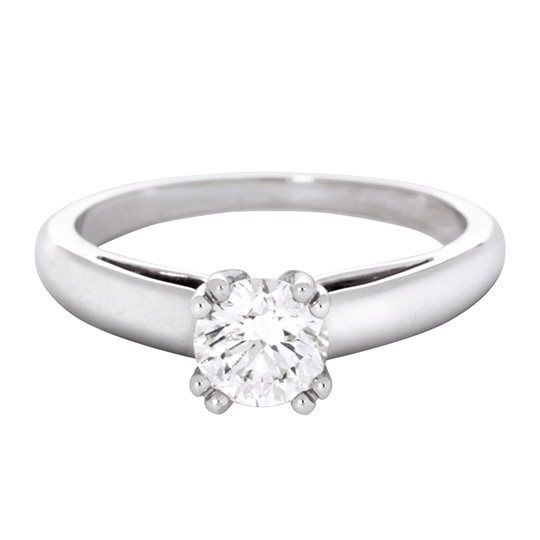 "Favori MAUBOUSSIN - ""La Bague"" Diamant 0,70ct H-SI1 - Or Blanc 18k  JZ26"